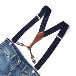 Bretelles à Pinces Bleu Marine