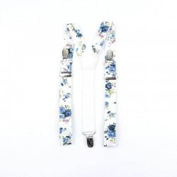 Bretelles Liberty Petites Fleurs Bleues Enfant