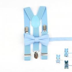 Bretelles Nœud Papillon Enfant Bleu Ciel