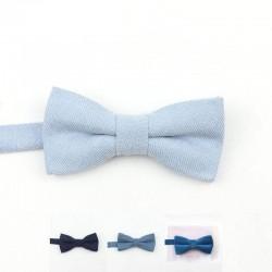 Noeud Papillon Velours Bleu - Enfant