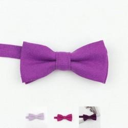 Noeud Papillon Coton Violet - Enfant