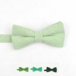 Noeud Papillon Coton Vert - Enfant