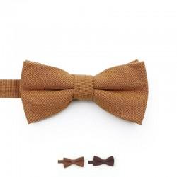Noeud Papillon Coton Marron - Enfant