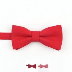 Noeud Papillon Coton Rouge - Enfant