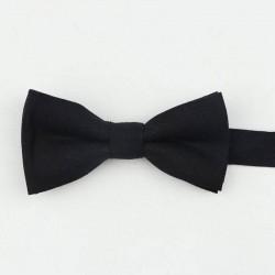 Noeud Papillon Coton Noir - Enfant