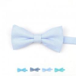 Noeud Papillon Coton Bleu Ciel - Enfant