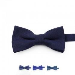 Noeud Papillon Coton Bleu Marine - Enfant