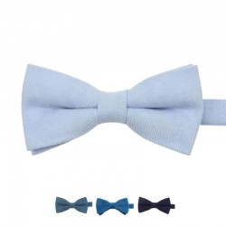 Noeud Papillon Bleu en Velours