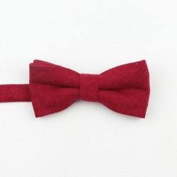 Noeud Papillon Velours Rouge - Enfant