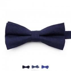 Noeud Papillon Bleu Marine - Coton