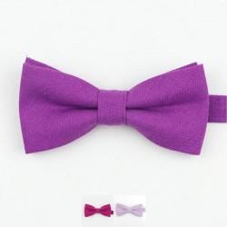 Noeud Papillon Violet - Coton