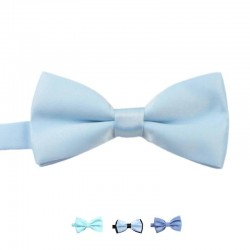 Noeud Papillon Bleu Ciel - Brillant