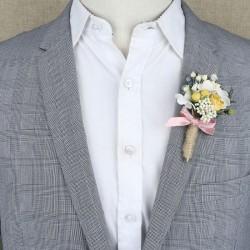 Broche Homme - Bouquet Fleurs Séchées