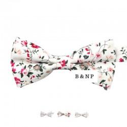 Noeud Papillon Liberty Blanc