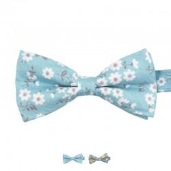 Noeud Papillon Liberty Bleu Clair