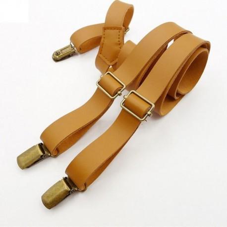 Bretelles cuir vintage
